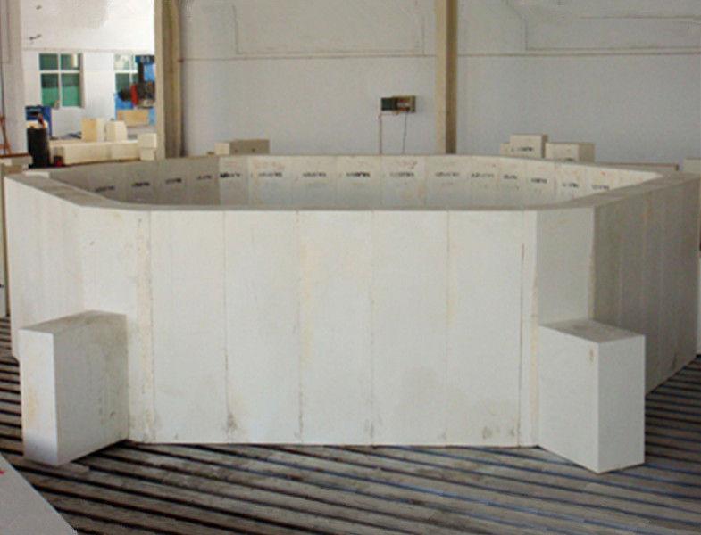 Compact Fused Zircon Corundum Brick Refractory Firebrick For Glass Furnace