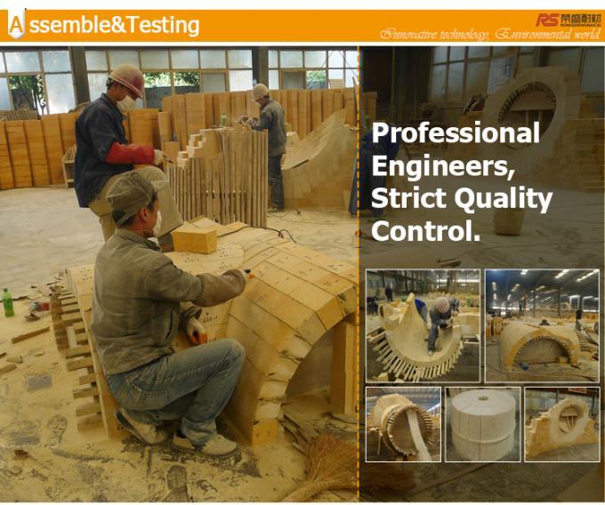 Al2O3 30% - 65% Refractory Fire Clay Bricks , Insulating Fire Brick For Lime Kiln