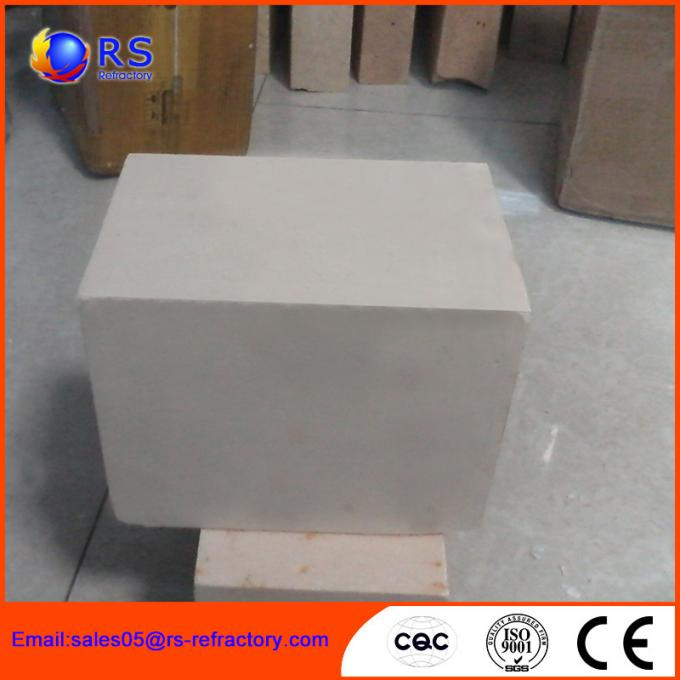 AZS 33 Zirconia Corudum Fire Clay Bricks For Glass Furnace , High Strength