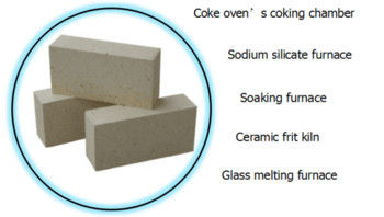 High Alumina Insulation Fire Rated Bricks For Furnace , Heat Resistant Bricks Gray Color