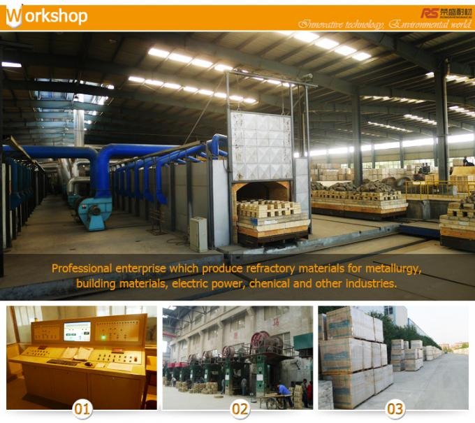 Slag Resistant Insulated Refractory Fire Bricks Zircon Mullite Brick Al2O3 70%